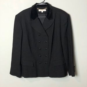 Preston & York Black blazer jacket wool size 16